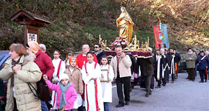 Celebrations of St. Anastasia the Martyr in Monastero Lanzo village, 40 km north from Torino.